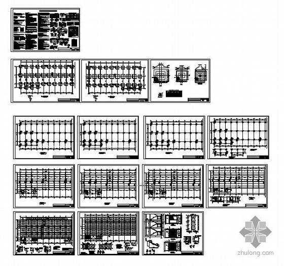 成都某鞋业四层框架厂房结构施工图