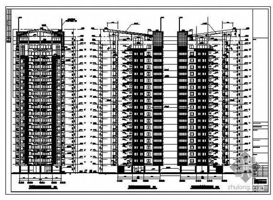 福建莆田某19层商住楼建筑结构图