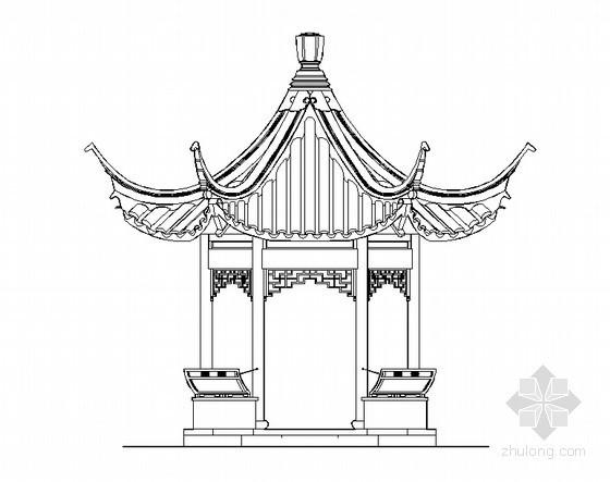 古建六角亭施工图