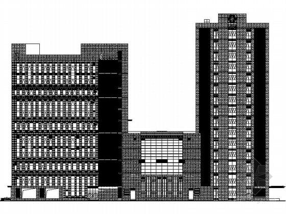 [上海]高层现代风格办公楼建筑幕墙工程施工图