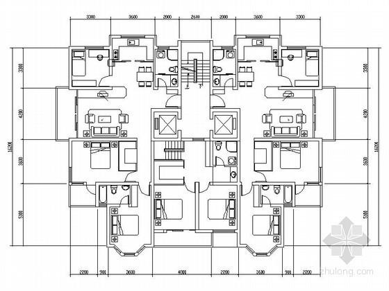 [合集]11个小高层住宅户型图