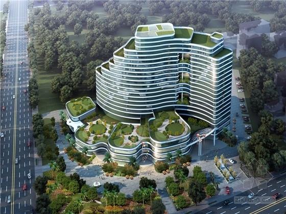 [福建]阶梯状现代风格商城酒店建筑设计方案文本