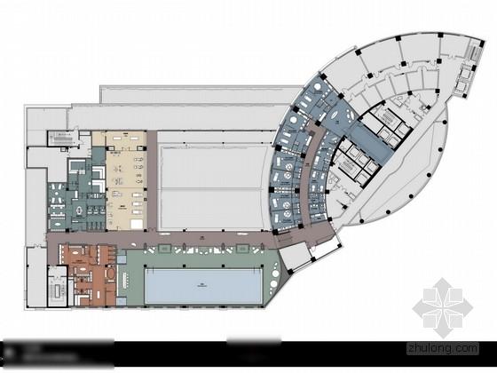 [福建]某奢华酒店游泳池、SPA及行政酒廊方案设计图