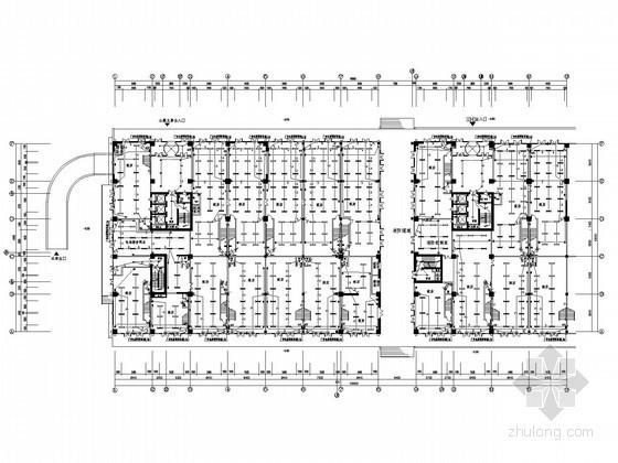 二十一层综合楼强电系统电气施工图纸(含暖通)