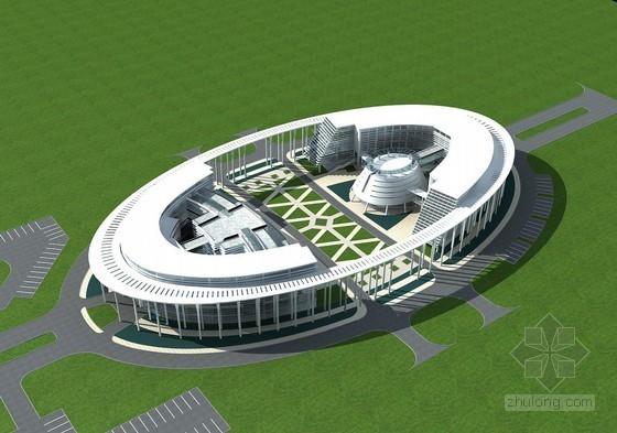 翡翠广场3D模型下载