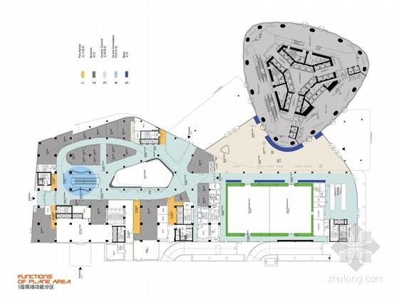 [广州]超现代摩登时尚机场及商业综合体设计方案(含效果图)