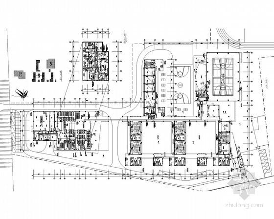 [广东]重点小学多层建筑强弱电电施图51张
