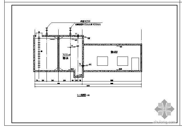 消防水泵房及水池的给水排水图纸