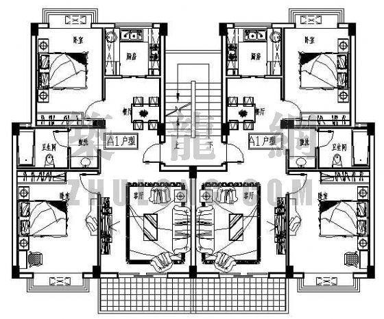住宅户型68张平面图