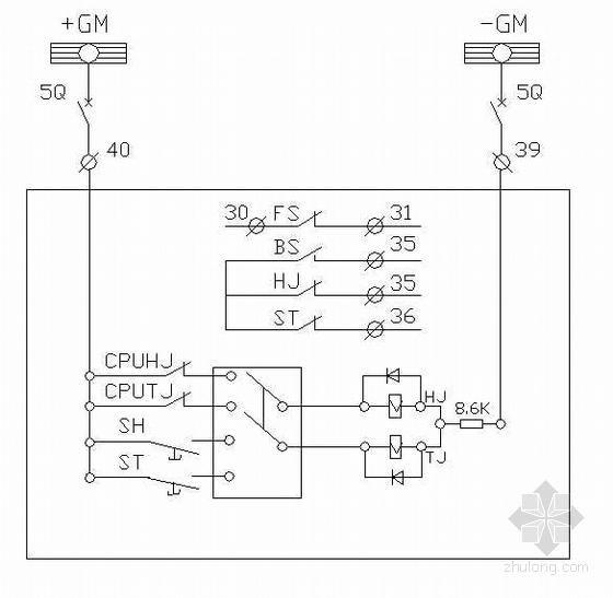 某CR-21B变电所自动化系统二次回路方案图