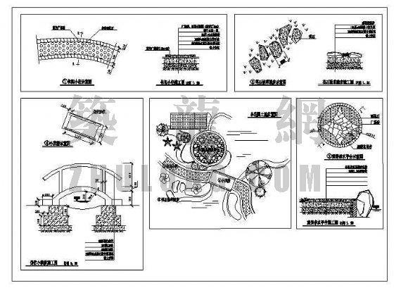 别墅私家花园施工图-4