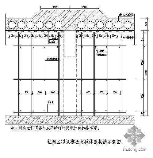 南京某地下车库模板支撑体系施工方案(有计算)
