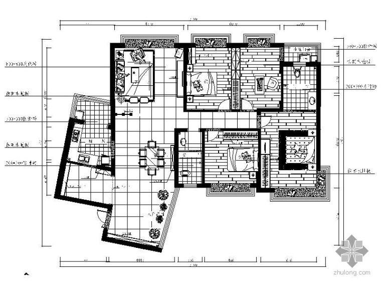 [湖南]四居经典房型装修图(含效果)