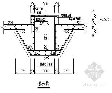 热泵机房承台桩基础平面布置图(基础套管图)