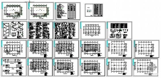 二层厂房建筑结构图资料下载-某4层框架结构厂房建筑结构图
