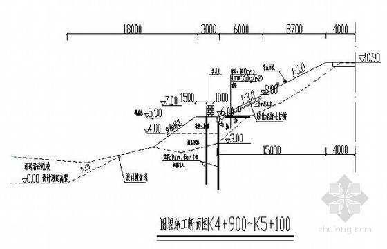 [江苏]某河道堤防加固临时围堰施工方案