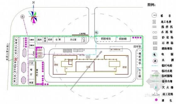 综合楼工程施工现场总平面布置图