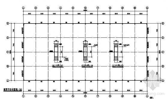 某27m单层拱形屋架结构图纸