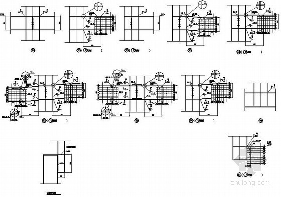 钢框架坡屋顶节点详图