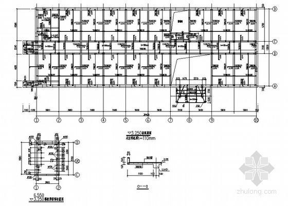 某三层砖混办公楼结构设计图