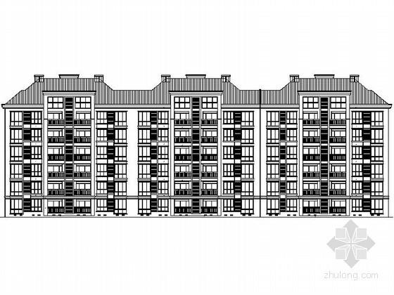 [湖南]某六层欧式住宅建筑施工图