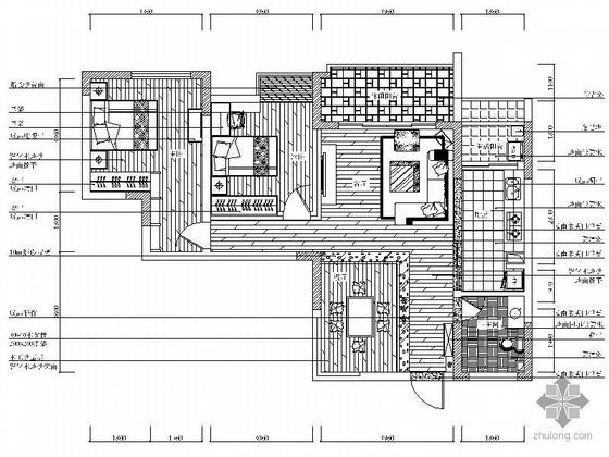 日式风格两居室装修图