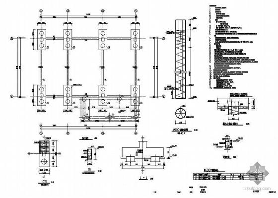 重庆某污水厂污泥过滤间结构设计图