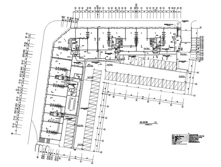 住宅区弱电工程计算实例附全套CAD图纸与工程量清单-一层负电平面图