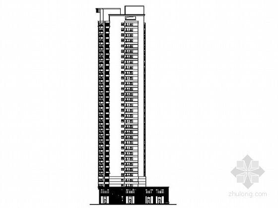 合肥某公寓商业工程3号楼裙楼外立面幕墙装饰工程建工图(含设计说明)