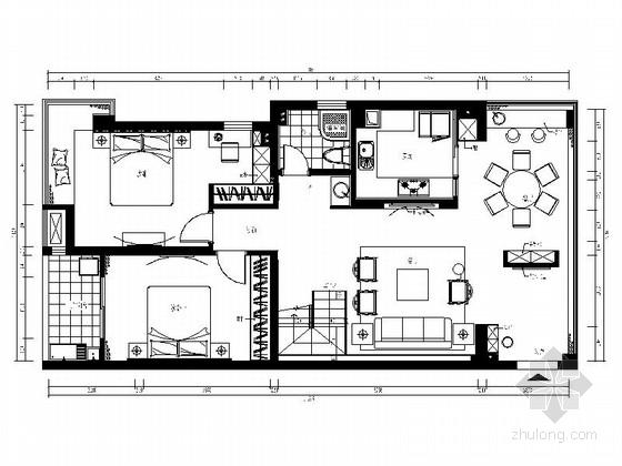 [福州]江景水岸豪宅新中式风格复式装修图(含效果)