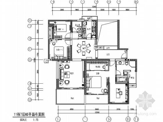 [深圳]原创简欧四居室样板间装修图(含效果)