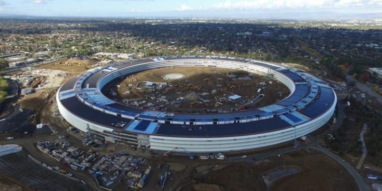 """""""飞船造型""""苹果总部大楼工程几近完工,2017年投入使用"""