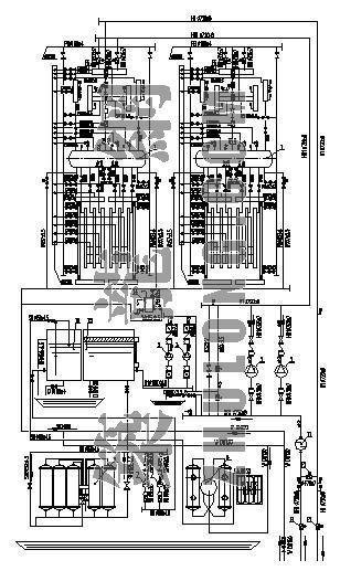 热水锅炉工艺流程图