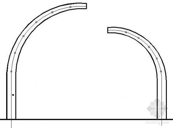某小区弧形构架型花架详图