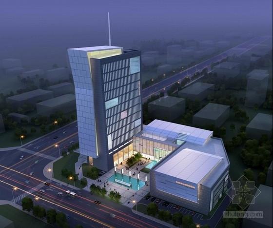 [合肥]大跨度空间广告及电视购物办公综合体建筑设计方案文本(含CAD)