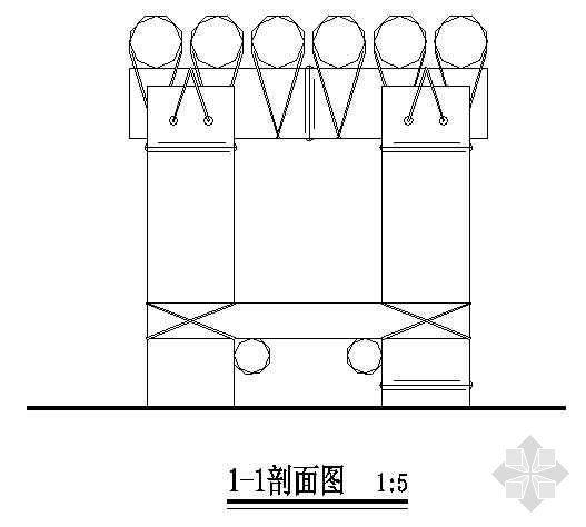 某庭院竹坐凳详图-3