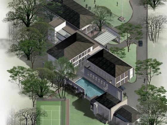 某大使館新中式風格辦公樓建筑方案文本