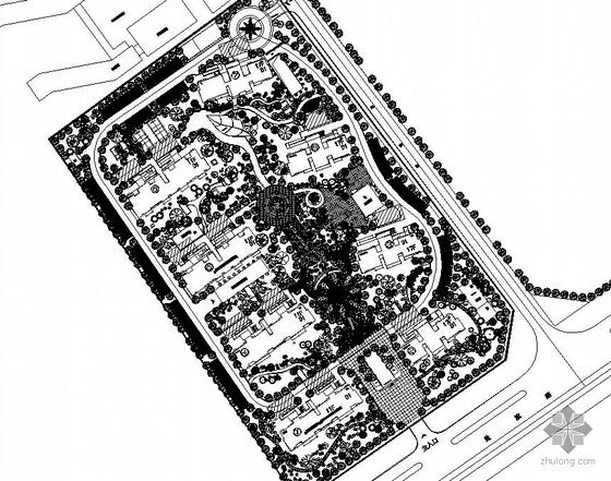 江苏盐城某山庄小区环境设计施工图