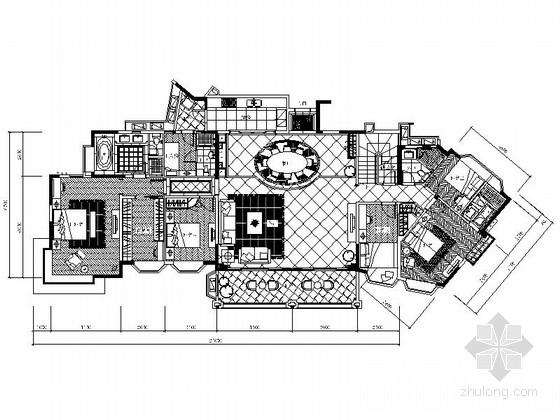 现代某花园小区复式室内设计装修图