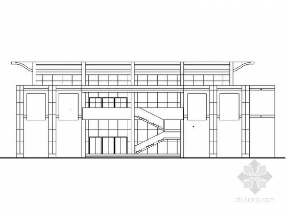 某学校三层食堂、多功能厅建筑扩初图