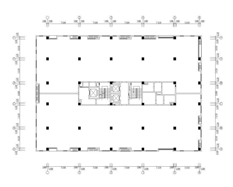 [天津]泰宇集团六层办公室装修施工图+效果图
