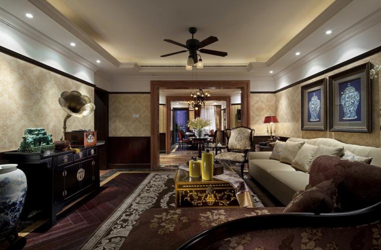 安徽华地紫园240平样板间室内设计方案