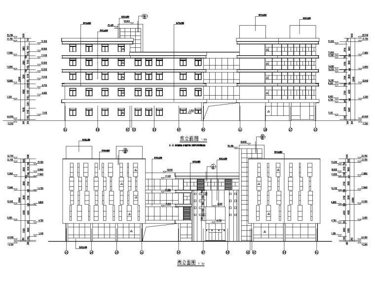 13800平五层经济开发区标准厂房建筑结构全套图