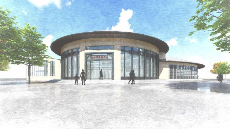 [广东]梅州梅县游客中心建筑模型设计(2018年资料)