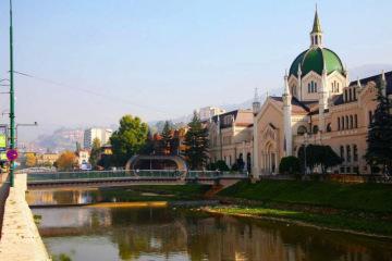 萨拉热窝FestinaLente桥景观