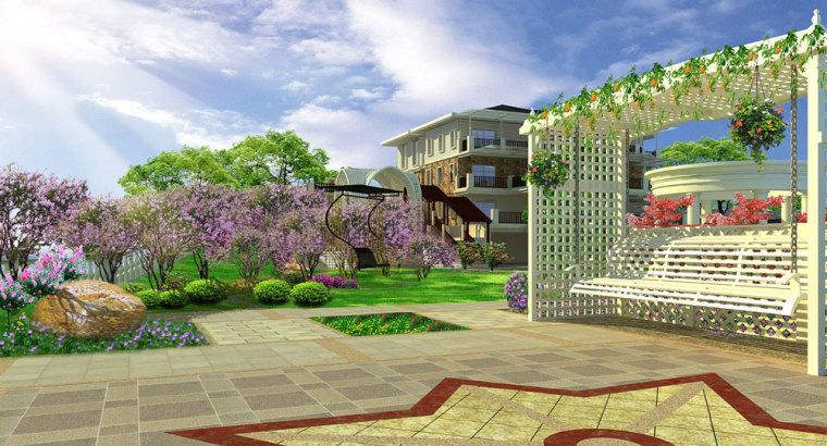 重庆冠领园林私家花园庭院设计:保利花园_3