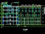5层高层框混结构综合楼建筑施工图