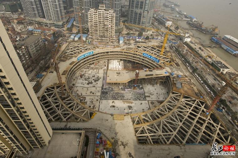 武汉长江航运中心地基基础及深基坑工程征集,照片、技术…