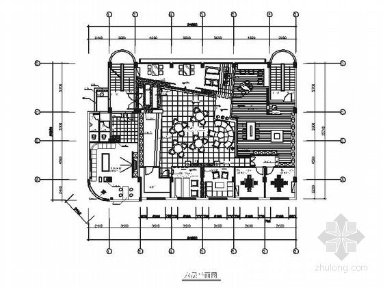 [北京]办公楼现代风格休闲吧装修改造施工图(含效果)