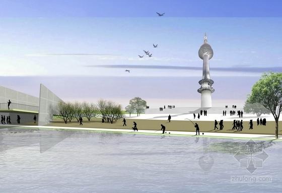 [广西]缤纷多彩滨水百里景观长廊景观规划设计方案-景观效果图